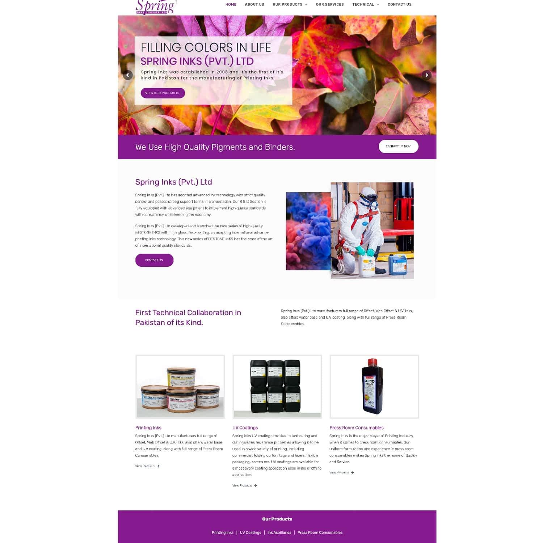 Spring Ink Website
